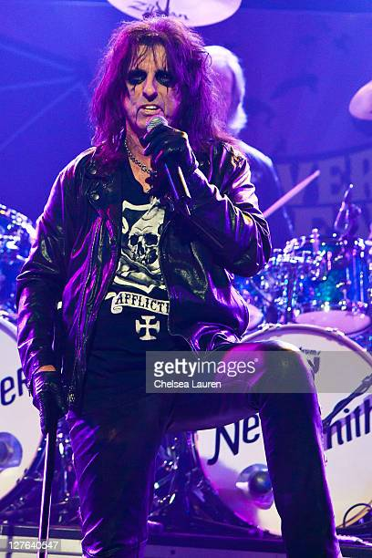 Vocalist Alice Cooper performs at the 3rd Annual Revolver Golden God Awards at Club Nokia on April 20 2011 in Los Angeles California