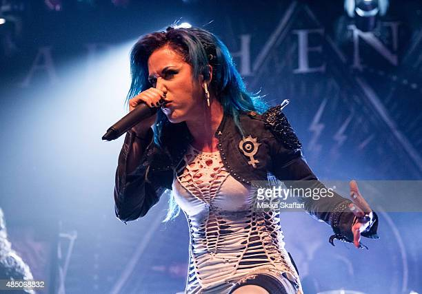 Vocalist Alissa WhiteGluz of Arch Enemy performs during The Summer Slaughter Tour at The Regency Ballroom on August 23 2015 in San Francisco...