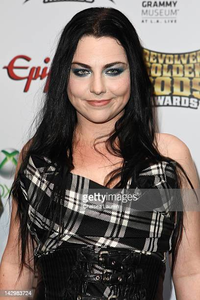 Vocalist Amy Lee of Evanescence arrives at the 4th annual Revolver Golden Gods awards at Club Nokia on April 11 2012 in Los Angeles California