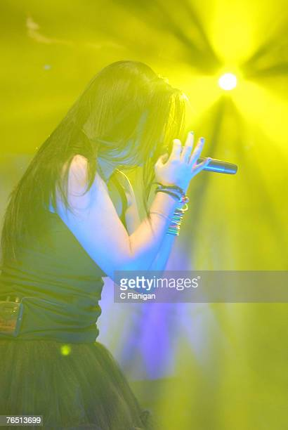 Vocalist Amy Lee of Evanesence performs live at Shoreline Amphitheatre on September 1 2007 in Mountain View California