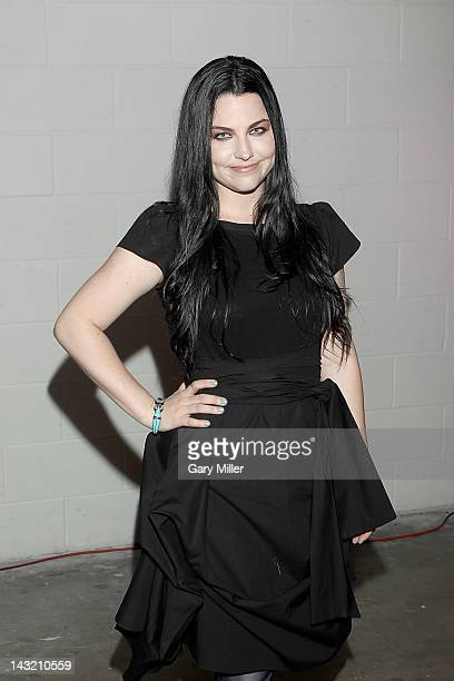 Vocalist Amy Lee walks the red carpet before the We Walk The Line A Celebration Of The Music Of Johnny Cash show at ACL Live on April 20 2012 in...