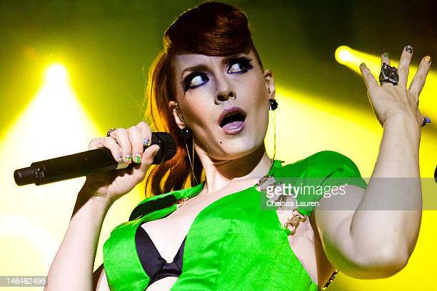 Vocalist Ana Matronic of Scissor Sisters performs at Hollywood Palladium on June 16, 2012 in Hollywood, California.