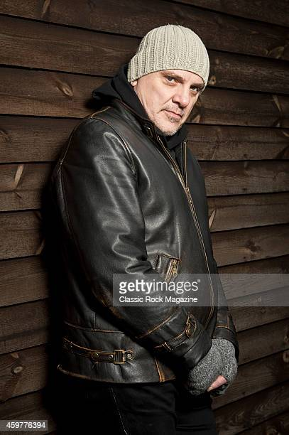 Vocalist and guitarist Baz Warne of English postpunk group The Stranglers photographed at the band headquarters in Frome Somerset on January 30 2014