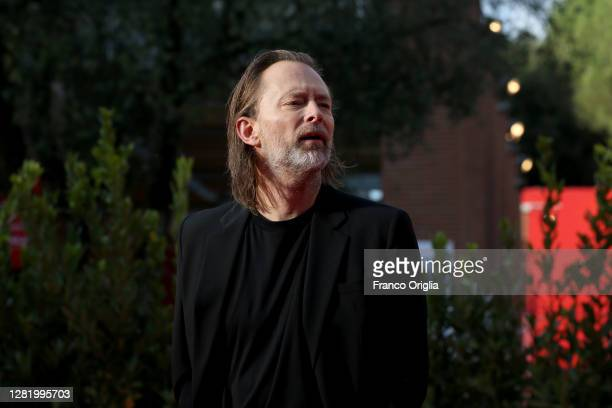 Vocalist and songwriter of the rock band Radiohead Thom Yorke walks the red carpet during the 15th Rome Film Festival on October 24, 2020 in Rome,...
