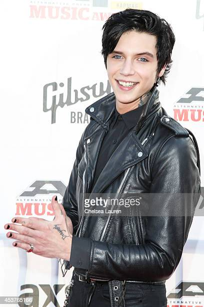 Vocalist Andy Biersack of Black Veil Brides attends the 2014 Gibson Brands AP Music Awards at the Rock and Roll Hall of Fame and Museum on July 21...