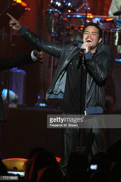 Vocalist Andy Vargas of Santana performs onstage at the Andre Agassi Charitable Foundation's 12th Annual Grand Slam for Children at the MGM Grand...