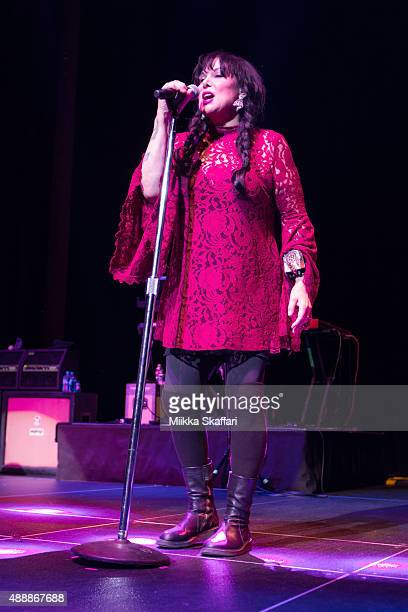 Vocalist Ann Wilson of Heart performs at The Masonic Auditorium on September 17 2015 in San Francisco California
