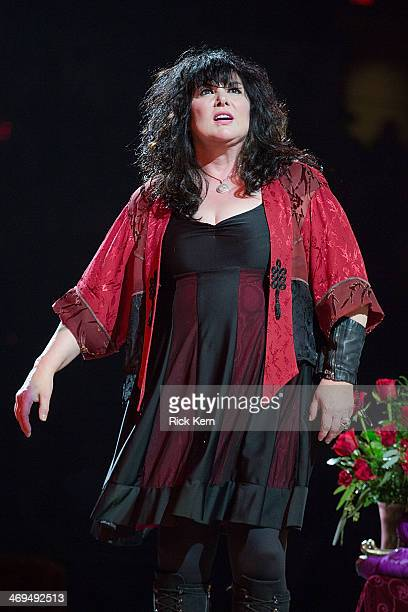 Vocalist Ann Wilson of Heart performs in concert as part of the San Antonio Stock Show Rodeo at the ATT Center on February 14 2014 in San Antonio...