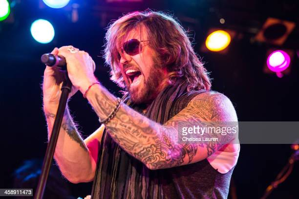 Vocalist Billy Ray Cyrus performs during the Camp Freddy holiday residency at The Roxy Theatre on December 21 2013 in West Hollywood California