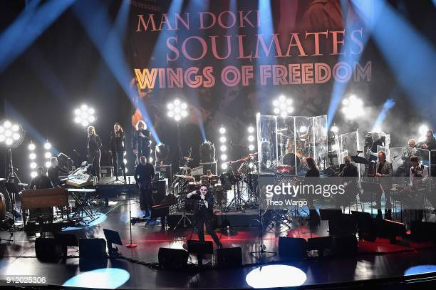 Vocalist Bobby Kimball performs onstage during the ManDoki Soulmates 'Wings Of Freedom' concert at The Beacon Theatre on January 29 2018 in New York...