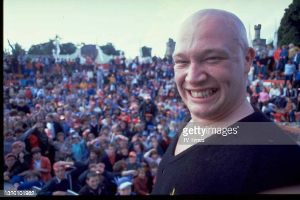 Vocalist Buster Bloodvessel of British ska group Bad Manners, photographed on stage during a live performance, circa 1982.