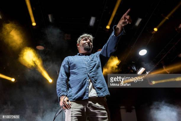 Vocalist Chino Moreno of Deftones performs at Concord Pavilion on July 6, 2017 in Concord, California.