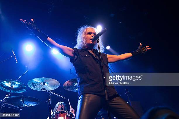 Vocalist Chris Boltendahl of Grave Digger performs at The Fillmore on November 19 2015 in San Francisco California