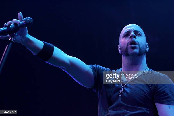 Vocalist Chris Daughtry performs in concert at The Frank Erwin Center on December 13 2009 in Austin Texas