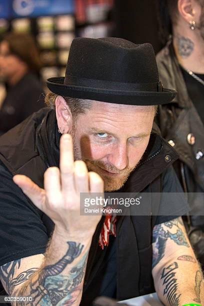 Vocalist Corey Taylor of Stone Sour attends a signing at The 2017 NAMM Show on January 21 2017 in Anaheim California