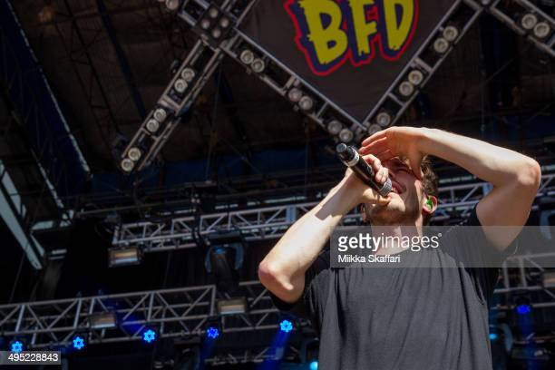 Vocalist David Boyd of New Politics performs at Live 105 BDF on June 1 2014 in Mountain View California