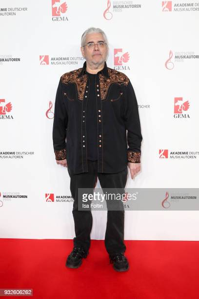 Vocalist David Moss during the German musical authors award on March 15 2018 in Berlin Germany