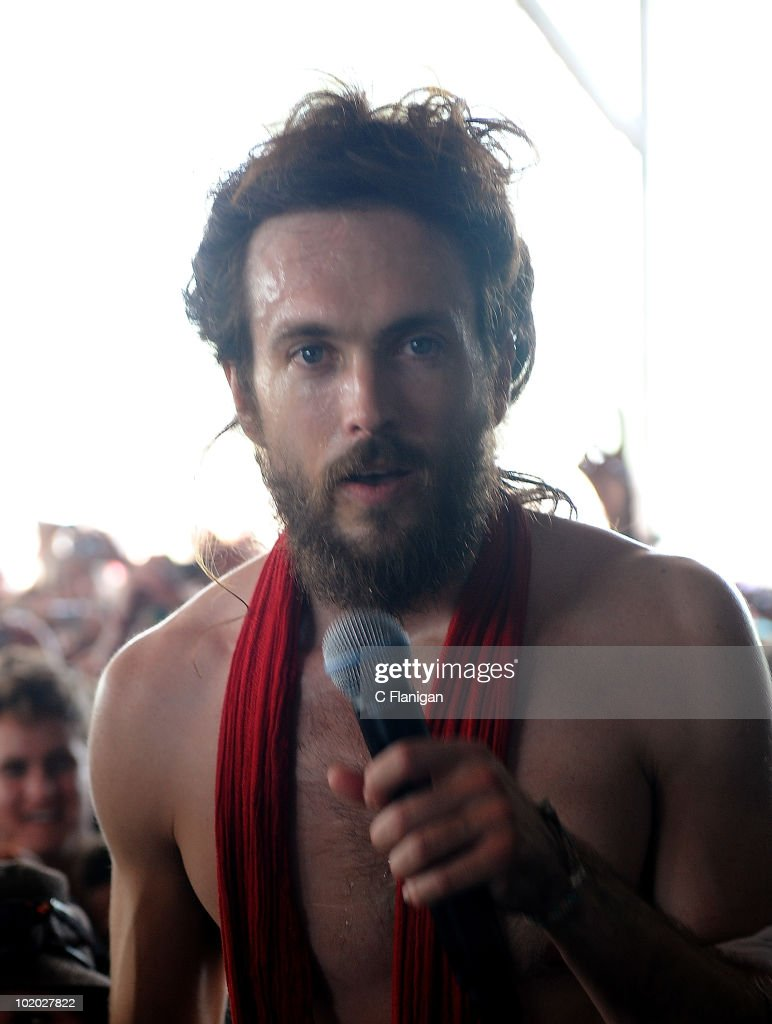 Vocalist Edward Sharpe and The Magnetic Zeros perform during day 2 of the Bonnaroo Music and Arts Festival at the Bonnaroo Festival Grounds on June 11, 2010 in Manchester, Tennessee.