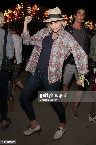 Vocalist Emily Armstrong of Dead Sara attends the NYLON and Olay Fresh Effects Present Neon Carnival with GUESS on April 12 2014 in Thermal California
