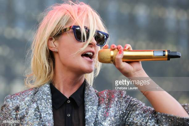 Vocalist Emily Haines of Metric performs during Day 1 of the Budweiser Made in America festival at Los Angeles Grand Park on August 30 2014 in Los...