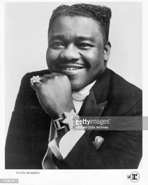 RB vocalist Fats Domino poses for a portrait in circa 1955