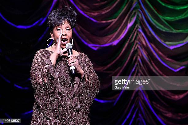Vocalist Gladys Knight performs in concert at ACL Live on March 2 2012 in Austin Texas
