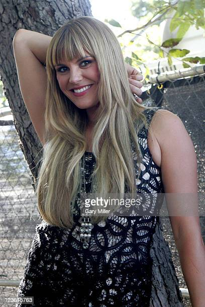 Vocalist Grace Potter poses backstage during the second day of the Austin City Limits music Festival at Zilker Park on October 9 2010 in Austin Texas