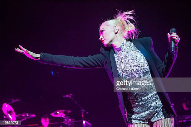 Vocalist Gwen Stefani of No Doubt performs at Gibson Amphitheatre on November 24 2012 in Universal City California