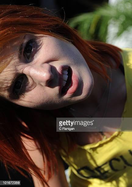 Vocalist Hayley Williams of Paramore attends the 2010 KROQ Weenie Roast at Verizon Wireless Amphitheatre on June 5 2010 in Laguna Hills California