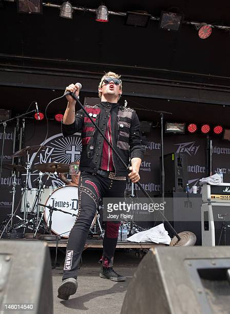 Vocalist James Durbin performs live during the 2012 Rock On The Range festival at Crew Stadium on May 20 2012 in Columbus Ohio