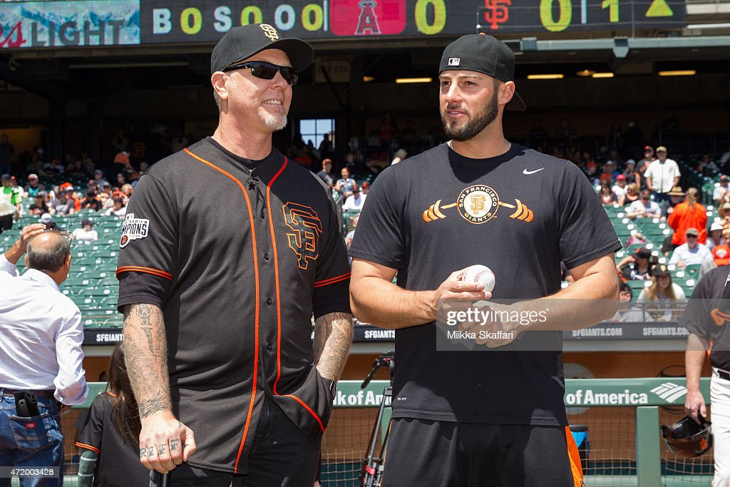 Celebrities At Metallica Day at The San Francisco Giants Game : News Photo