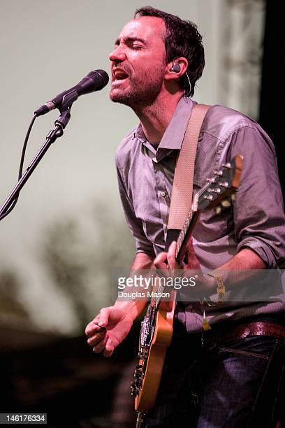 Vocalist James Mercer of The Shins performs during the 2012 Bonnaroo Music and Arts Festival on June 9 2012 in Manchester Tennessee
