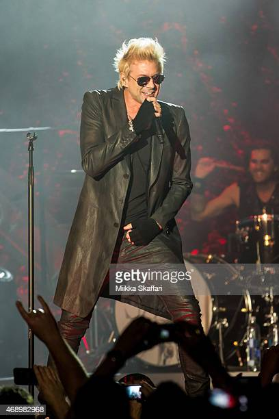 Vocalist James Michael of SIXXAM performs at The Regency Ballroom on April 8 2015 in San Francisco California
