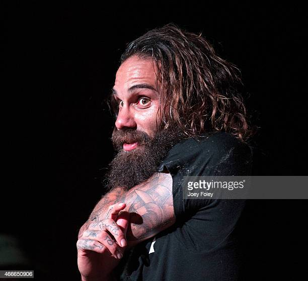 Vocalist Jason Butler of Letlive performs live onstage at The Emerson Theater on March 9 2015 in Indianapolis Indiana