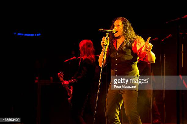 Vocalist Jeff Scott Soto of progressive rock group TransSiberian Orchestra performing live on stage at the Hammersmith Apollo in London on January 11...