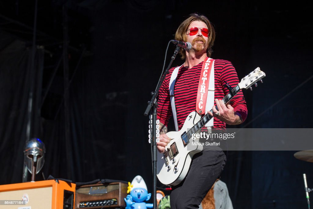 Vocalist Jesse Hughes of Eagles of Death Metal performs at Monster Energy Aftershock Festival 2017 at Discovery Park on October 21, 2017 in Sacramento, California.