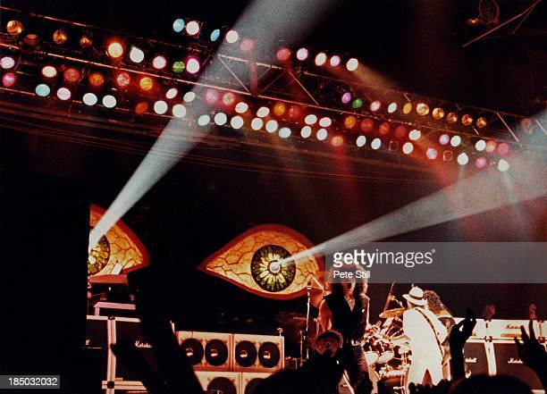Vocalist Joe Lynn Turner of Ritchie Blackmore's Rainbow performs on stage at the Sobell Centre Finsbury Park on September 18th 1983 in London England