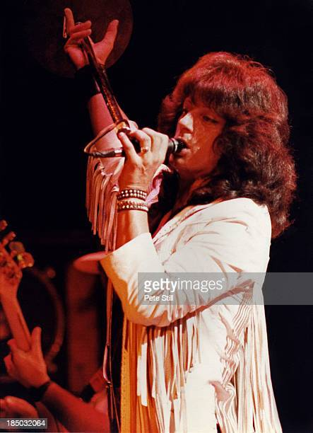 Vocalist Joe Lynn Turner, Roger Glover and Ritchie Blackmore of Rainbow perform on stage at the Sobell Centre, Finsbury Park on September 18th, 1983...