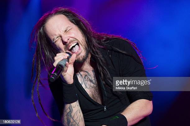 Vocalist Jonathan Davis of Korn performs in Monster Energy's Aftershock Festival at Discovery Park on September 14 2013 in Sacramento California