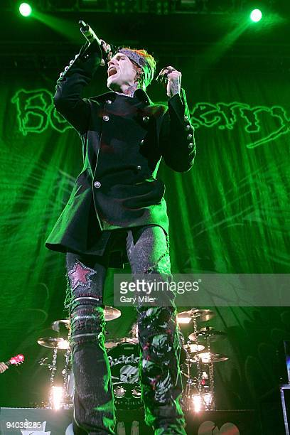Vocalist Josh Todd of Buckcherry performs in concert at The Frank Erwin Center on December 4 2009 in Austin Texas