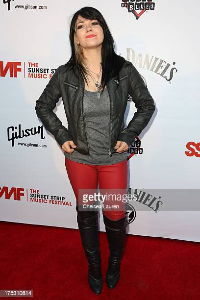 Vocalist Katherine Pawlak of Sad Robot arrives at the 6th annual Sunset Strip Music Festival launch party honoring Joan Jett at House of Blues Sunset...