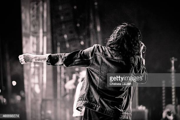 Vocalist Kellin Quinn of Sleeping With Sirens performs at the Self Help Festival on March 7 2015 in San Bernardino California