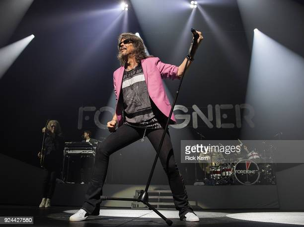 Vocalist Kelly Hansen of Foreigner performs in concert at ACL Live on February 25 2018 in Austin Texas