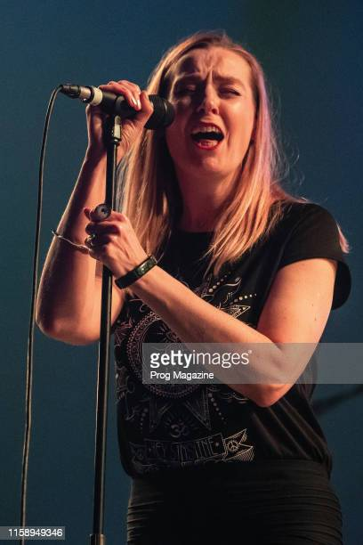 Vocalist Lee Douglas of English progressive rock group Anathema performing live on stage during Stone Free Festival at the O2 Arena in London on June...