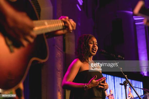 Vocalist Loide performed at The Smithsonian National Museum of African Art's 2nd annual African Art Awards Dinner Presented by guest chef Carla Hall...
