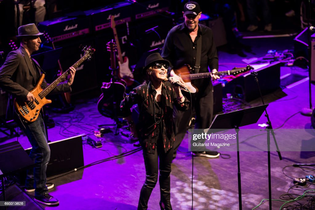 Vocalist Lulu performing live on stage as part of the 'Evening For Jack Bruce' tribute concert at the O2 Shepherd's Bush Empire in London, on October 25, 2016.