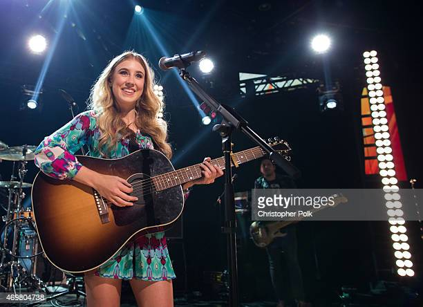 Vocalist Madison Marlow of the musical duo Maddie and Tae performs at the Reba and Friends Outnumber Hunger concert event on Tuesday March 31 2015 in...