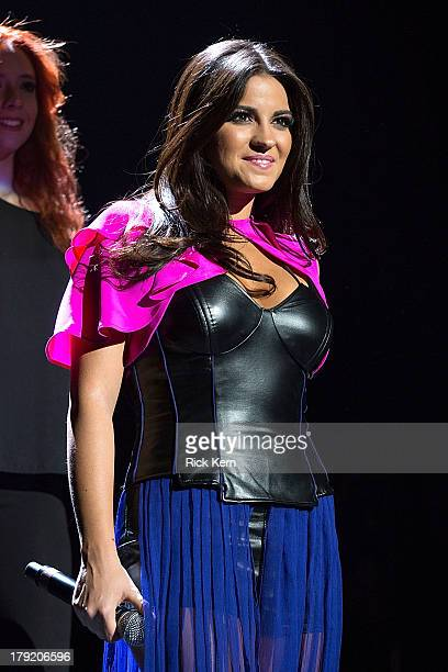 Vocalist Maite Perroni performs in concert as part of Festival People en Español Presented by Target at The Alamodome on August 31 2013 in San...