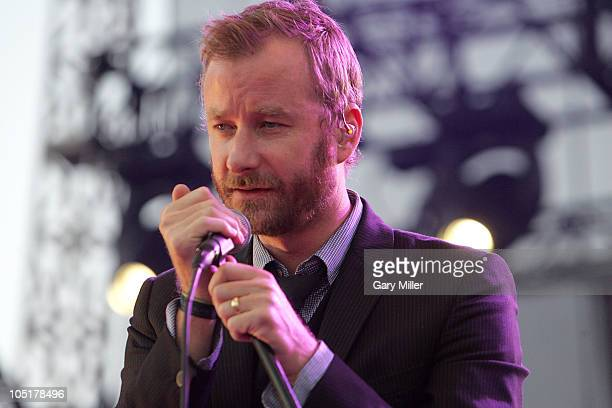 Vocalist Matt Beringer of The National performs in concert during day 3 of the Austin City Limits Music Festival at Zilker Park on October 10, 2010...