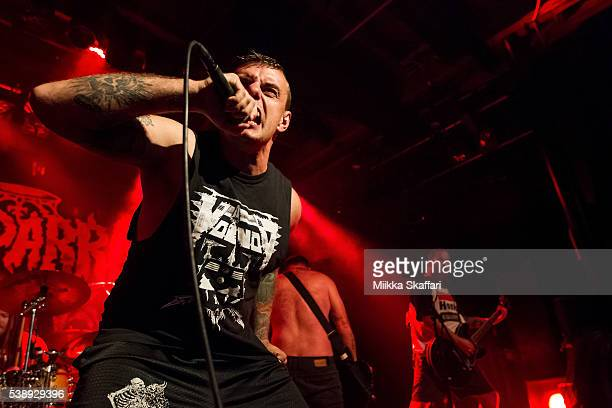Vocalist Matthew Young of King Parrot performs at Slim's on June 8 2016 in San Francisco California